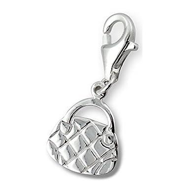 Bungsa© Handbag Charm .925sterling silver handbag pendant (Pendant Charm Beads Real Jewellery for Men and Women)