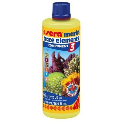 Marine Component 3 Trace Elements Anionic Saltwater Conditioning and Maintenance Size: 500 ml by Sera USA