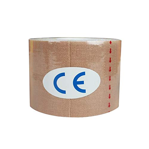 CHZDYDJD Kinesiology Tape 2 Größe Muscle Tape Wasserdicht Kinesiologie Tape Sport Taping Umreifung Fußball Knie Muscle Medical Tape Athletic Sport Recovery 2,5 X 5 cm Teint -