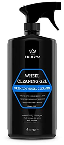 Wheel Cleaner Gel – Best for Removing Dirt, Oil Residue, Dust, Dirt & More – Restores Shine & Clears Stains – Works on Polished & Painted Alloy & Chrome Wheels – Acid-Free Formula – 18 OZ –