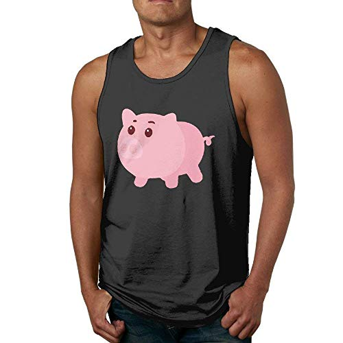 Big Fat Pig Mens Tank Top Casual Gym Muscle Summer Vest -