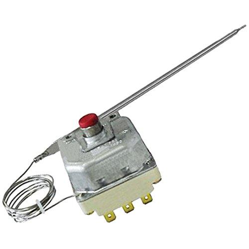3-poliges Thermostat (bis 225 °C) von Spares2go, mit Temperaturbegrenzung und Reset-Taste, für kommerzielle Fritteusen von Lincat -
