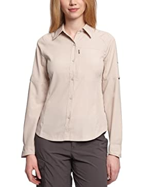 [Patrocinado]Columbia Silver Ridge Long Sleeve Shirt - Blusa para mujer, color beige, talla L