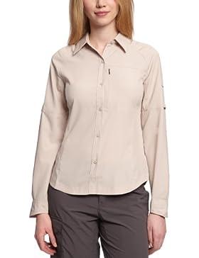 Columbia Silver Ridge Long Sleeve Shirt - Blusa para mujer, color beige, talla M
