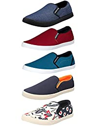 Chevit Mens Combo Pack of 5 Casual Shoes (Loafers and Mocassins)