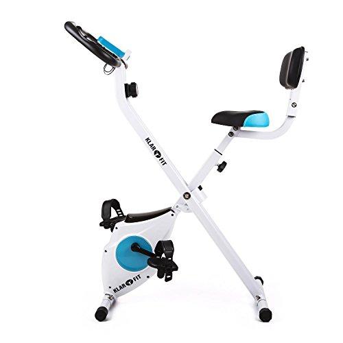 41VcxPzXsqL. SS500  - Klarfit Azura Comfort • Ergometer • Home Trainer • Fitness Bicycle • Cardio Bike • Training Computer • Pulse Meter • 8-step Adjustable Resistance • 3kg Flywheel • Backrest