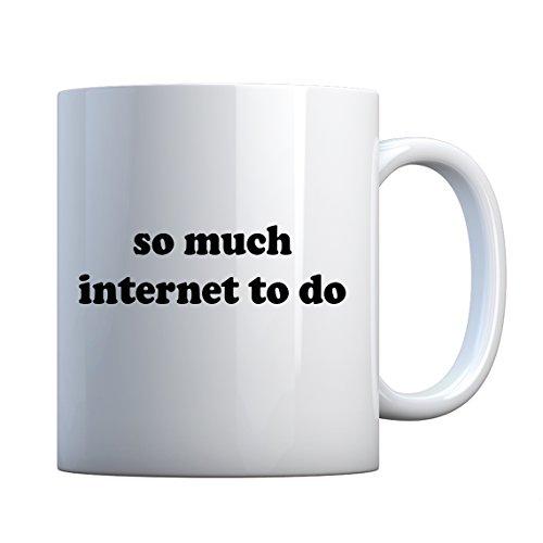 Indica Plateau So Much Internet faire en céramique Mug cadeau 11oz blanc nacré