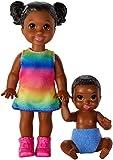 Barbie- Skipper Babysitter Playset Bambole Afroamericane con Accessori, Giocattolo per Bambini 3+ Anni, GFL33
