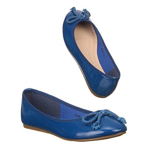 Das 50168 Azul Escuro Sapatas Bailarinas Senhoras fvw1wqP