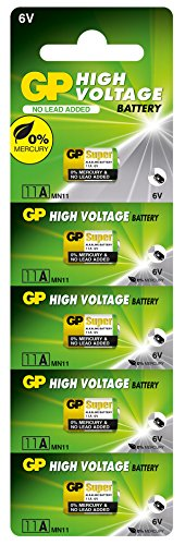 GP 11A-U5 Alkaline Batterie MN11 (6V) High Voltage (5 batteries)