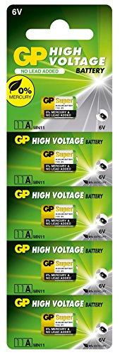 kenable GP Haute Voltage Batterie 11a MN11 5 pièces 6V [5 paquet de]