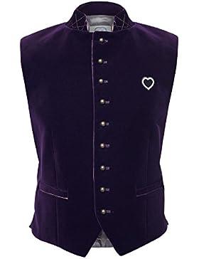 GaudiHerz Trachtenweste in lila - Das Gilet ist eine Designer-Tracht und der Samt-Stoff ist in Top-Qualität für...