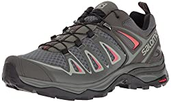 SALOMON Damen Ultra 3 Trekking- & Wanderhalbschuhe, Grau (Shadow/Castor Gray/Mineral Red 000), 41 1/3 EU