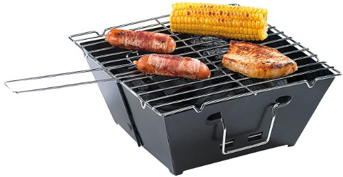 41Vcz9EeY8L - PEARL Faltgrill: Camping-Grillset: Faltbarer Klappgrill und Mini-Campingleuchte (Zusammenklappbarer Grill)