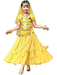 Hunpta Kids'filles ventre danse tenue costume Inde Dance Clothes Top + jupe