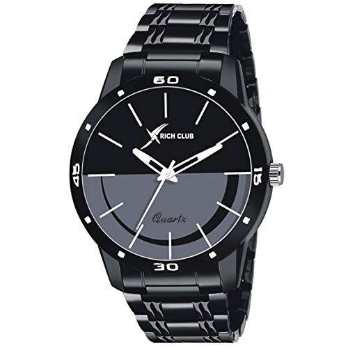Rich Club RC-5024 Black High Quality Casual Analogue Watch for Men and Boys