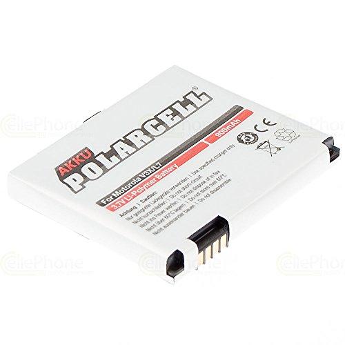 cellePhone PolarCell Akku Li-Polymer kompatibel mit Motorola Razr V3x C261 SLVR L7 L9 V1150 / Rokr E8 / Aura (Ersatz für BC60 / BK60 / CFNN7005) Razr V3x Mobile