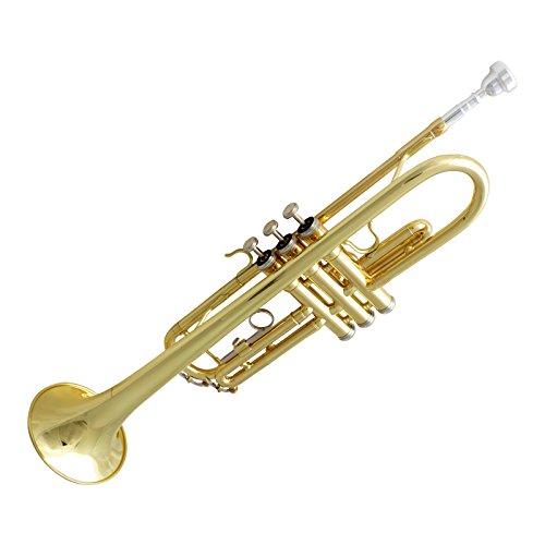 Ludwig Kayser Bb Trompete Gold-Messing by Acandoo inkl. Koffer und Mundstück | Ideal für Anfänger und Fortgeschrittene