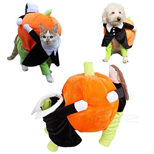 Xemz Halloween-Kostüm für Hunde und Katzen, für Weihnachten, Oster-Chihuahua, Teddy-Kleidung, Weihnachtsmann-Kürbis-Kostüm, für Kleine bis mittelgroße Haustiere, ()