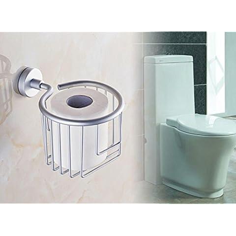 SBWYLT-Espacio de baño de aluminio que Lou le Portarollos Lou, papel higiénico, papel toalla rollo porta papel higiénico titular toalla papelera
