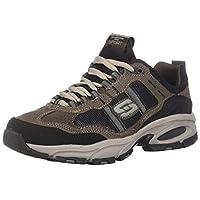 Skechers Sport Men's Vigor 2.0 Trait Memory Foam Sneaker, Brown/Black, 11 M US
