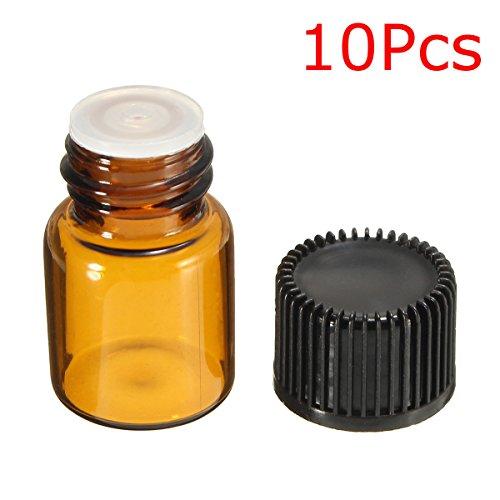 Bernstein-essenz-Öle (DyNamic 10Pcs 2Ml Glas-Bernst-Dripper Bottle Für Essential Oils Aromatherapie Crafts)