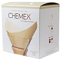 Chemex Bonded Pre-folded Unbleached Square Coffee Filters