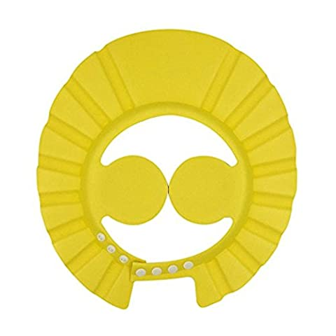 ibepro Baby Dusche Cap mit Ohr Schutz Pads bequemer Verstellbarer Soft Shampoo Dusche Badekappe für Baby Kinder Kinder