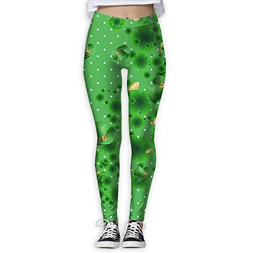 Abfind St. Patrick's Day Lange Kompressionshose/Yogahose Yoga Leggings Ladies High Rise,XL -