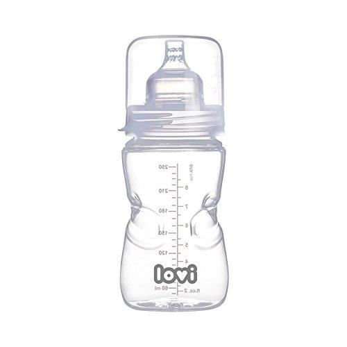 LOVI SUPERvent - Biberón con tetina dinámica autoesterilizable, 250 ml