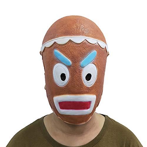 hcoser Cookie Warrior Máscara de Cookie Guerrero Cosplay para Fiestas
