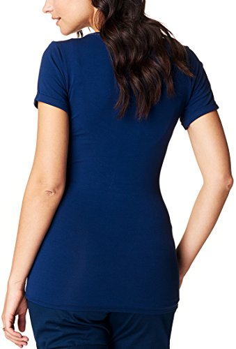 Noppies Tee Nurs Ss Vera 70225, Top Femme Blau (Midnight Blue C163)