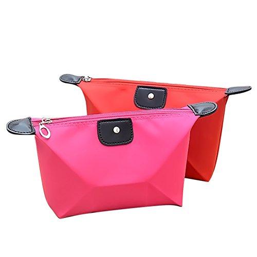 Vococal® 2 Pcs Portable Voyage Multifonctionnel Shopping Sac à Main Stockage Cosmétiques Maquillage Sac Sac Couleur Aléatoire