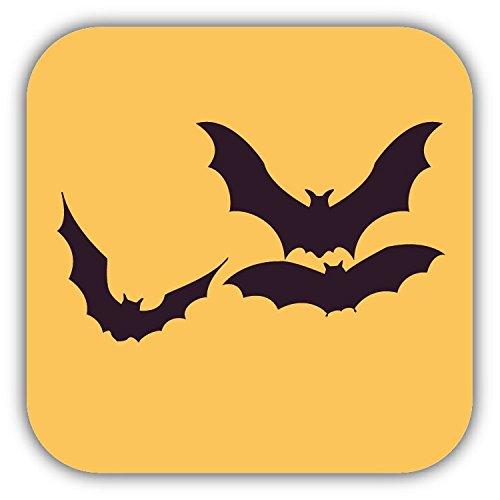 Bats Halloween Retro Cartoon Hochwertigen Auto-Autoaufkleber 12 x 12 cm