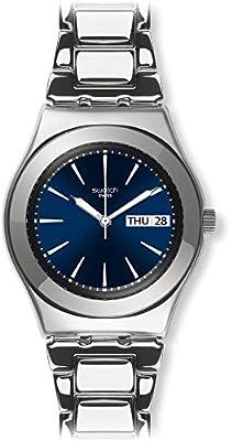 Swatch Reloj Análogo clásico para Unisex de Cuarzo con Correa en Acero Inoxidable YLS713G de Swatch
