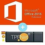 MS Office 2016 Professional Plus 32 Bits y 64 Bits - Clave de Licencia Original con una Memoria USB de - TPFNet