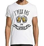T-Shirt Premium Blanc J'Peux Pas J'ai Apéro idée cadeau humour