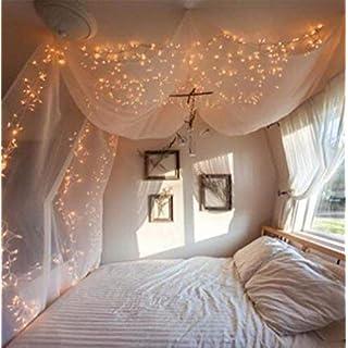 ANKOUJA Led Lichterkette Warmweiß 100er Innen Für Verbindlich U0026  Memroyfunktion Für Weihnachten Zimmer Bett Hochzeit Party