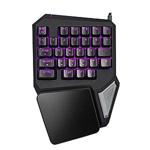 Gaming-Tastatur, das Neue Gameboard mit programmierbaren Tasten, 7 Farben, LED, Hintergrundbeleuchtung, tragbar, USB, Schwarz, ergonomische Game-Tastatur kompatibel mit Windows System