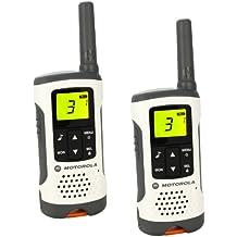 Motorola Walkie Talkie Modelo T50 - PACK 2 UNIDADES, Alcance 6 KM, Compacto - Versátil, 8 + 121 códigos