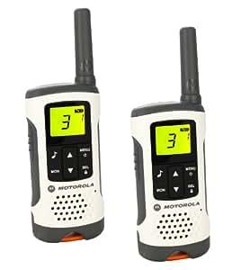 Motorola Paire de talkies walkies Motorola T50 portée en champs libre 6km Blanc
