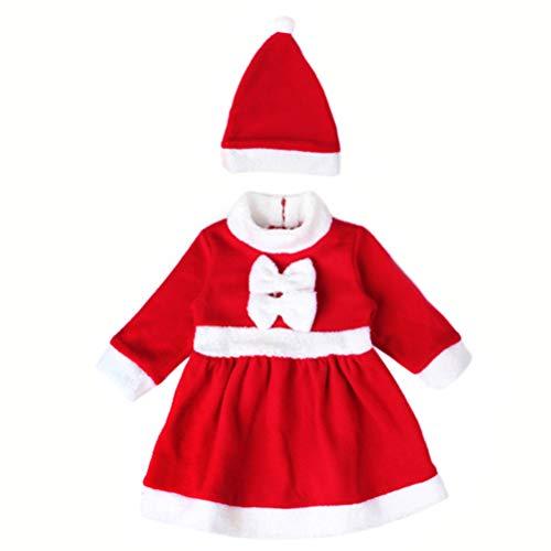 Kostüm Für Niedliche Weihnachtsfeiern - FENICAL weihnachtsoutfit Kleinkind weihnachtsmann kostüm Set Weihnachtsfeier Cosplay Kleid und Hut Set für Kinder Babys - größe l