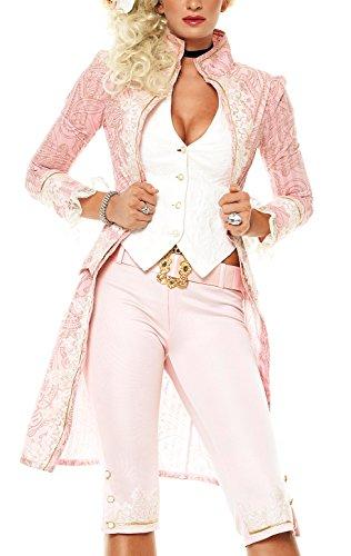 Leg Avenue Elegantes Baroness Kostüm 3-teilig - pink/Gold - X-Small (Für Erwachsene Hofdame Kostüm)