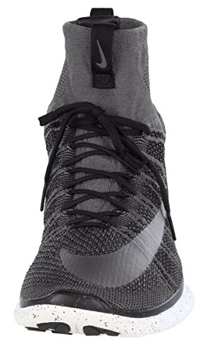 Nike Free Flyknit Mercurial, Chaussures de Foot Homme, Gris Multicolore - Gris / Negro / Blanco (Dark Grey / Silver-Blk-Smmt Wht)
