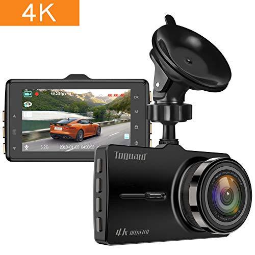 TOGUARD Dash Cam 4K in Macchina da Auto per Auto HD Ultra Guida Video Recorder Videocamera da 3 Pollici con cruscotto con Registrazione WDR Loop Monitor di parcheggio G-Sensor