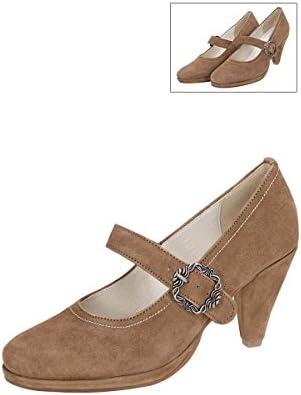 HIRSCHKOGEL - Zapatos de Vestir de Cuero para Mujer Marrón Marrón