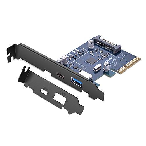 ard PCIe USB 3.1 Typ C und Type-A PCI Express Card 10 Gbit/s USB Hub intern für PC ()