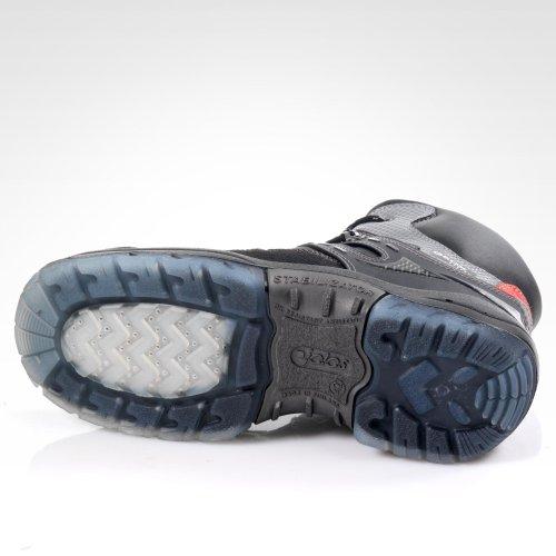 Jalas , Chaussures de sécurité pour homme Noir/Gris/Rouge