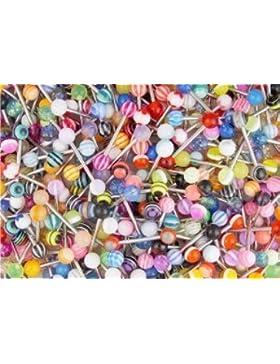 Jewellery Piercingstecker für Zunge/Brustwarze, verschiedene Farben und Designs erhältlich