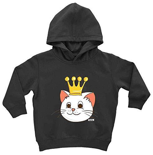 Kostüm 1 2 Was Katze Hat - HARIZ Baby Hoodie Katze Prinzessin Mit Krone Süß Tiere Dschungel Inkl. Geschenk Karte Pinguin Schwarz 1-2 Jahre
